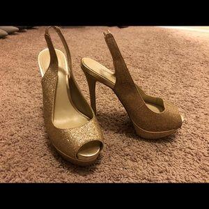 Size 7 , Aldo high glittery heels